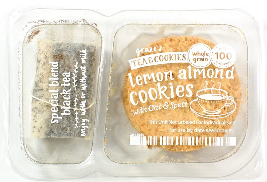 Graze lemon almond cookies