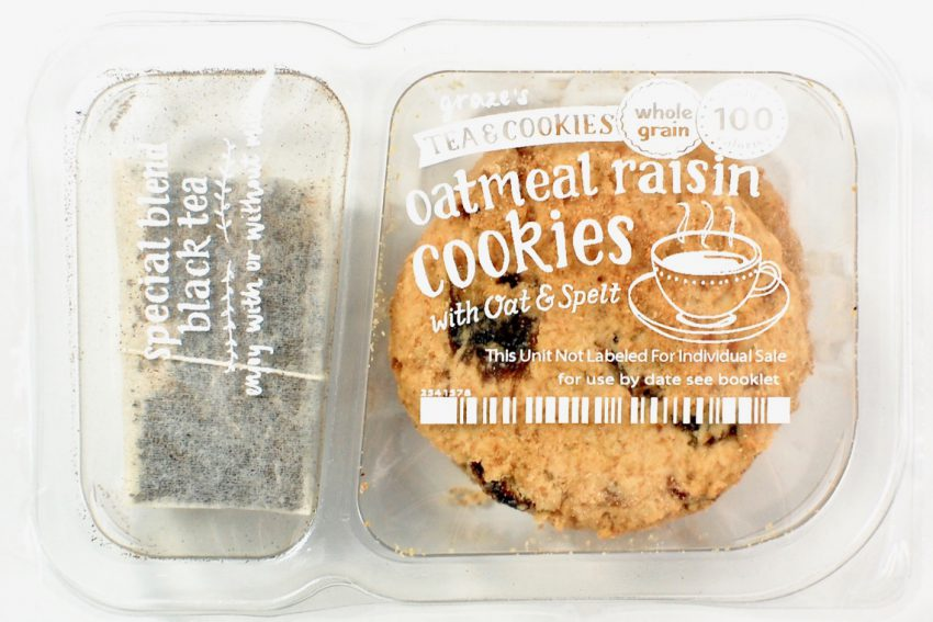 Graze cookies and tea