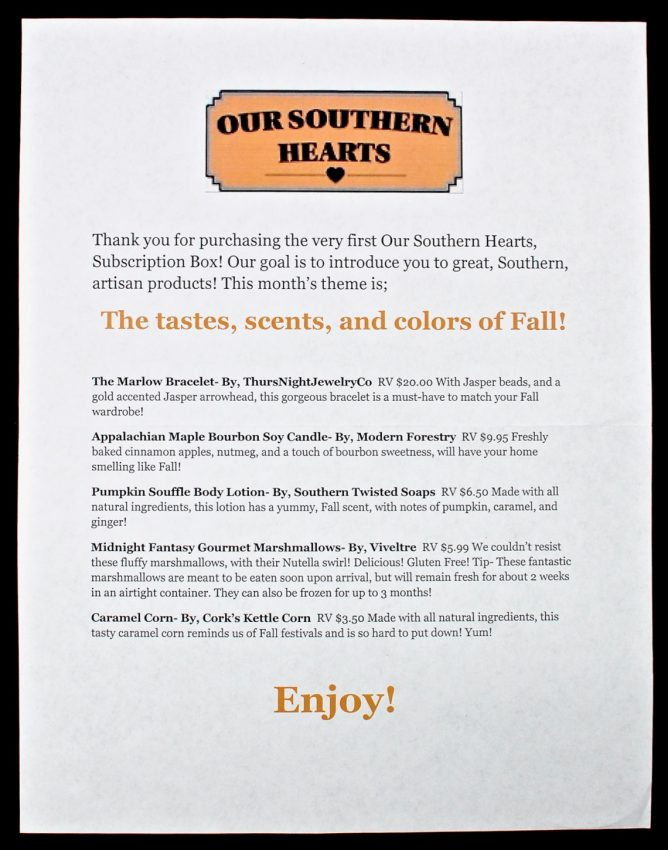 October 2016 Our Southern Hearts review