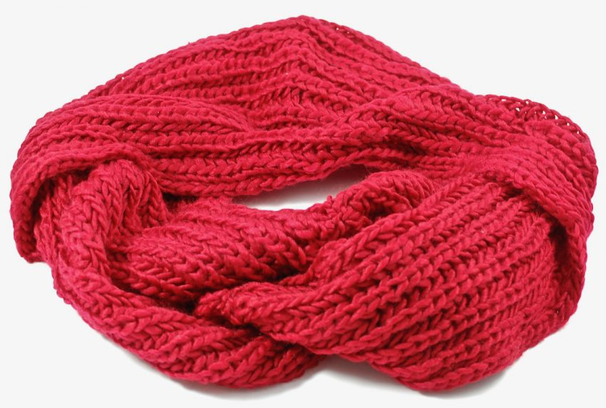 peach couture scarf