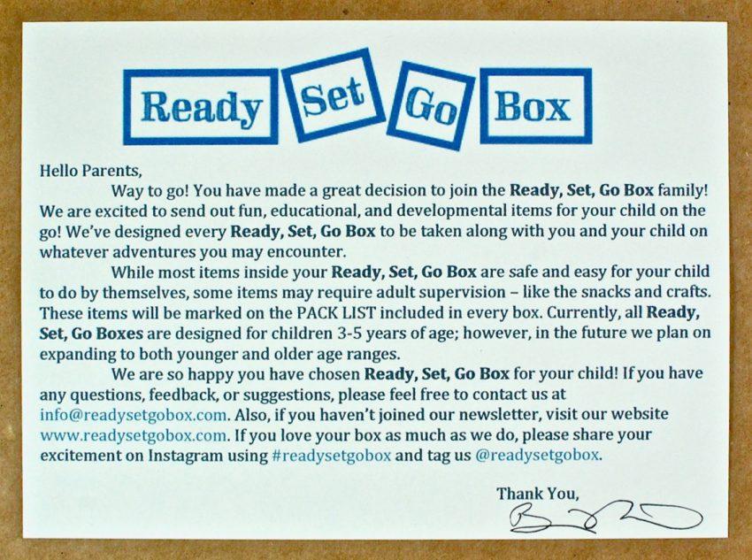 ready set go box review