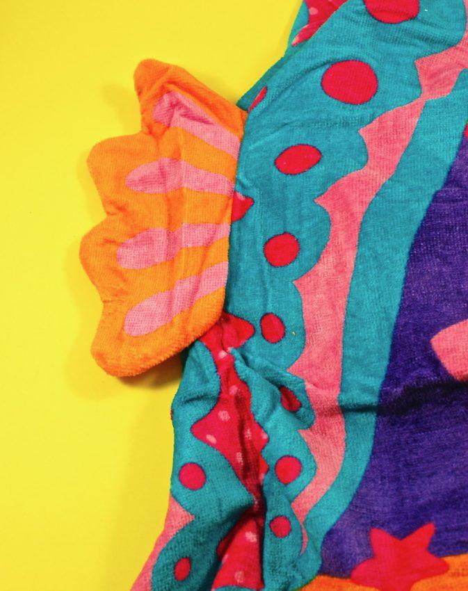 seahorse hooded towel
