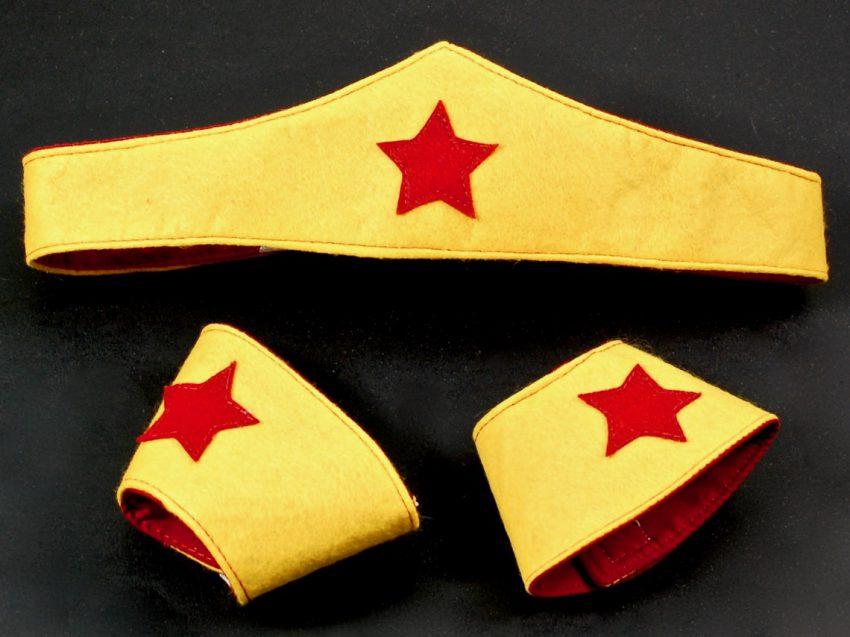 superhero crown and cuffs
