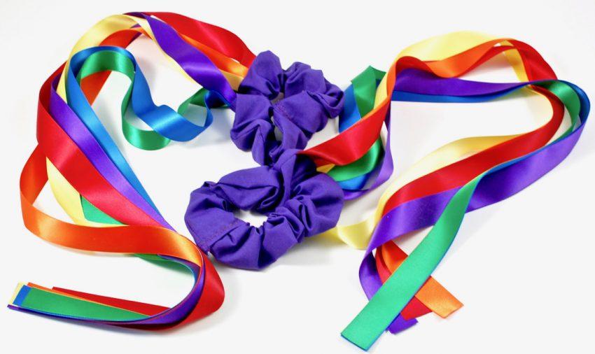 Bear Paw Creek rainbow wrist ribbons