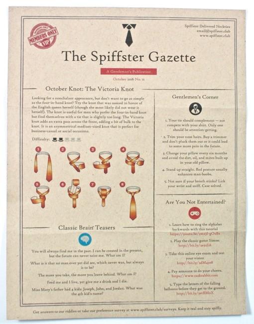 Spiffster Gazette