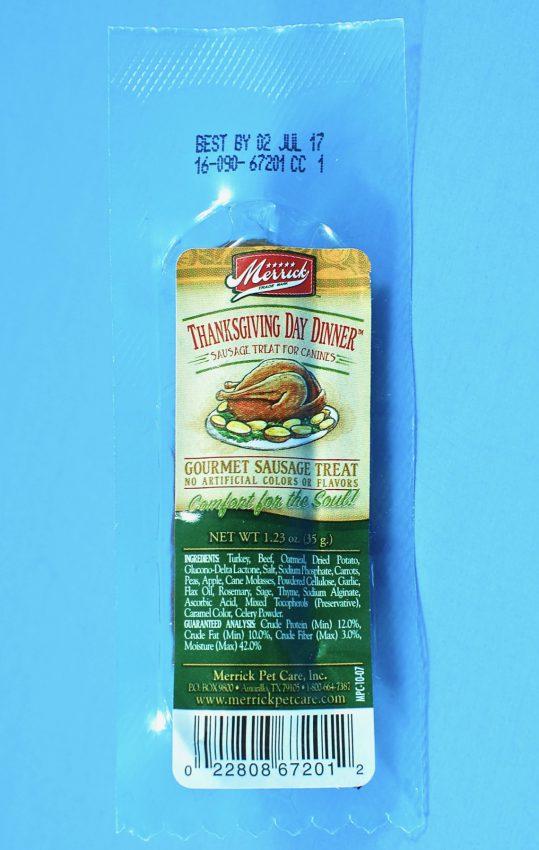 Thanksgiving dog sausage