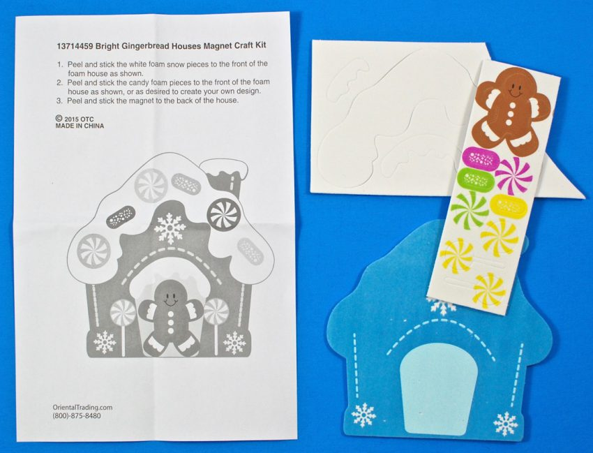 gingerbread house craft magnet