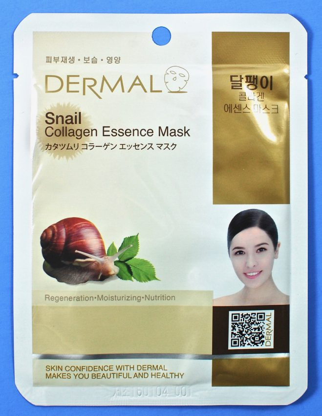 Dermal snail collagen mask
