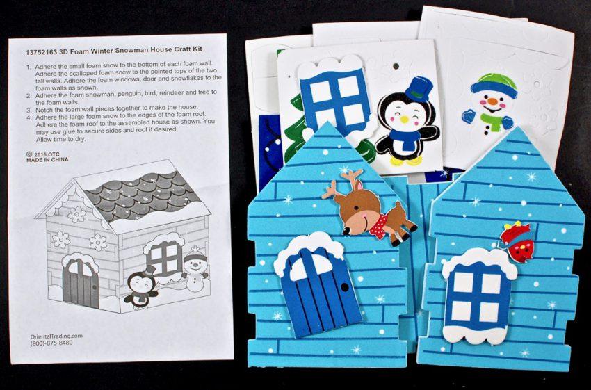 3d snowman house craft