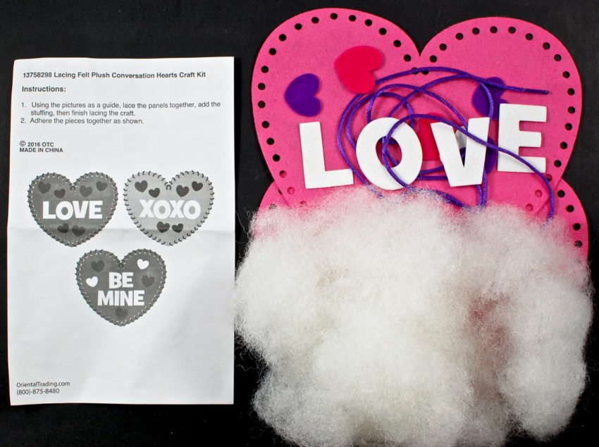 plush heart craft
