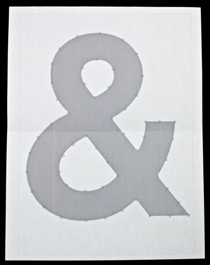 ampersand string art template