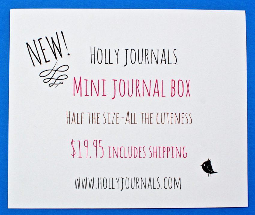 Mini journal box