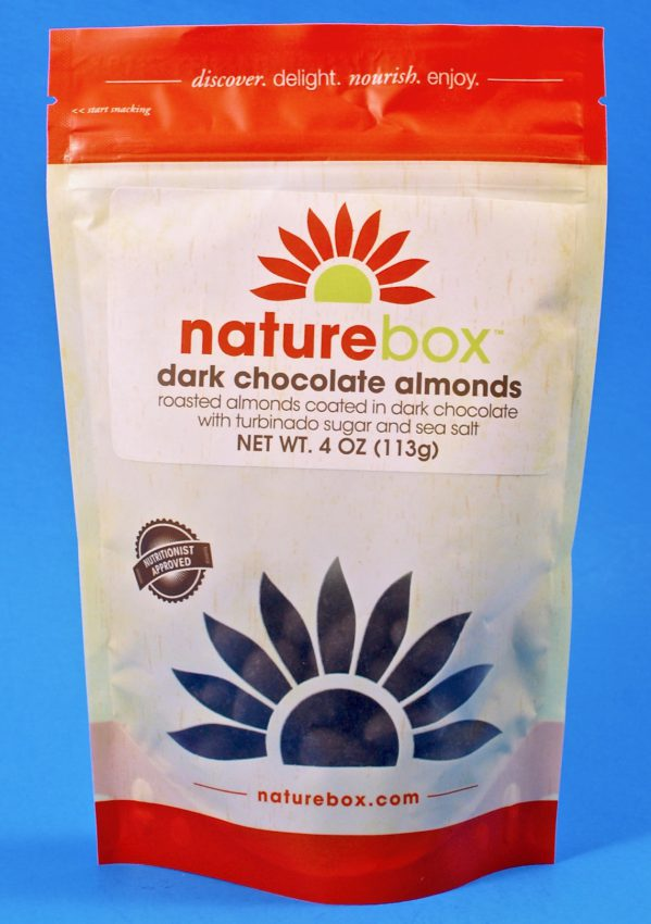 Naturebox dark chocolate almonds