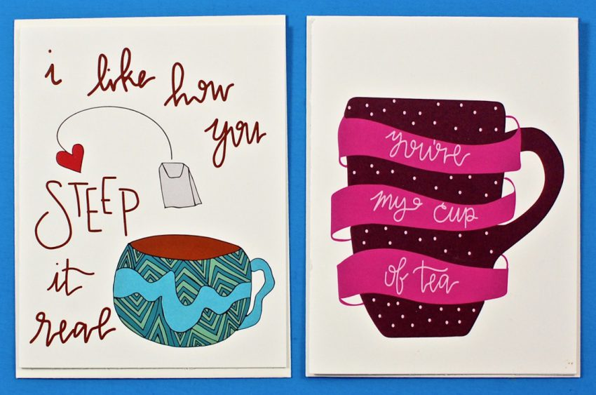 tea themed greeting cards