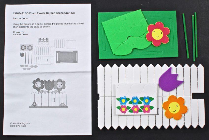 3D flower garden craft