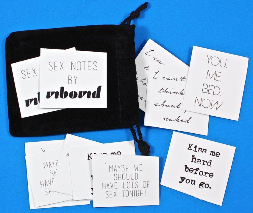 Unbound sex notes