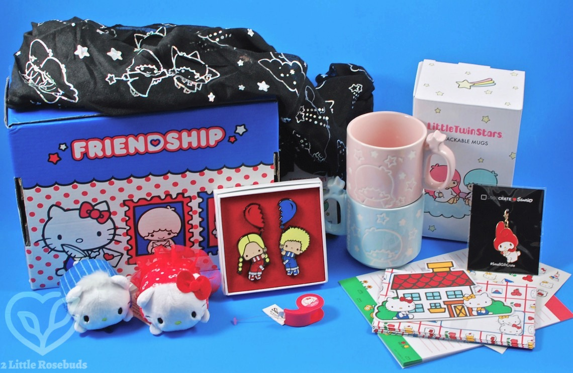 Loot Crate Sanrio Small Gift Crate March 2017 Review - 2 Little ...