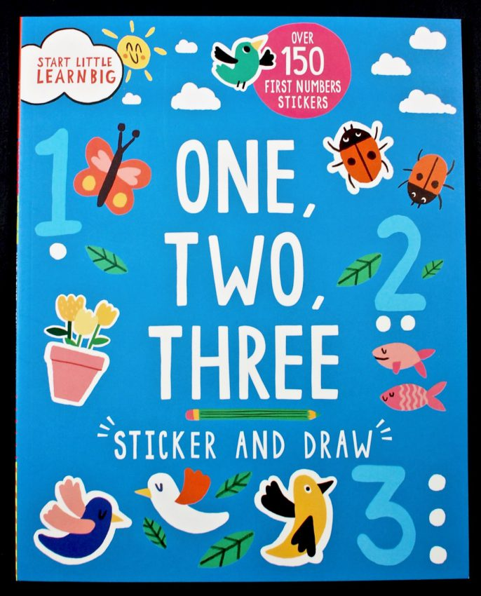 One, Two, Three sticker book