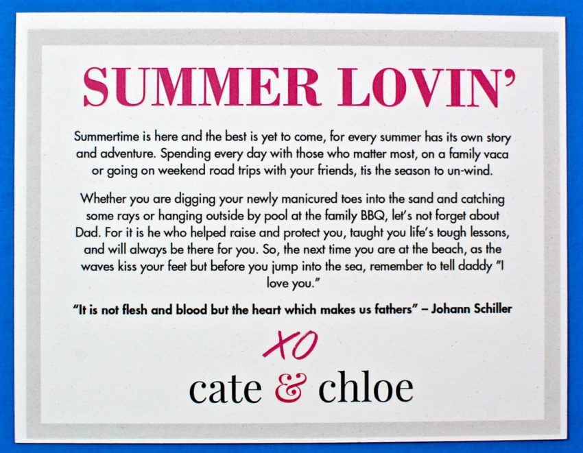 Cate & Chloe review