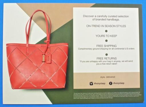 Ivory Clasp handbag