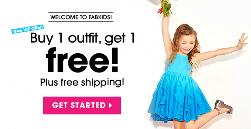 Buy 1 FabKids outfit get 1 free plus free shipping