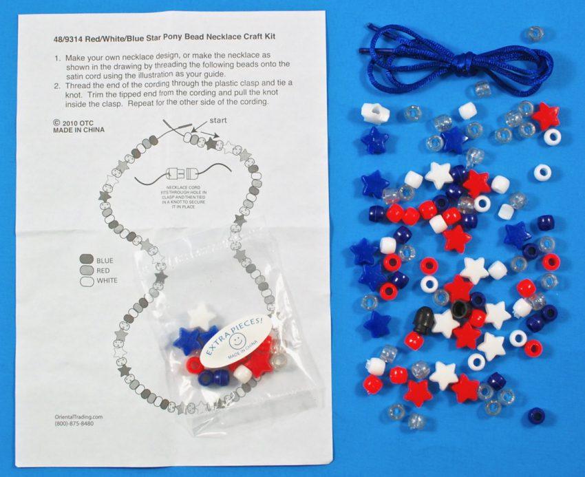 patriotic necklace craft