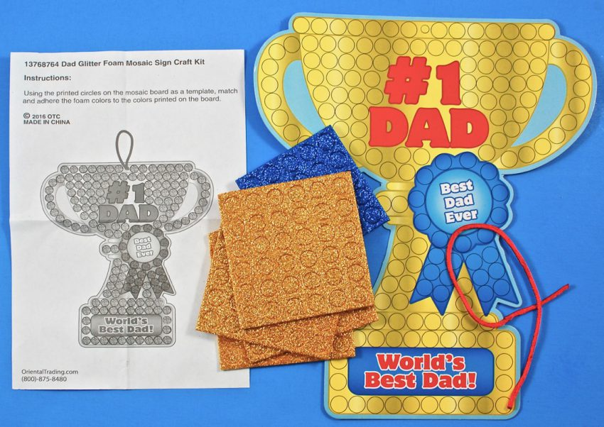 father's day mosaic craft