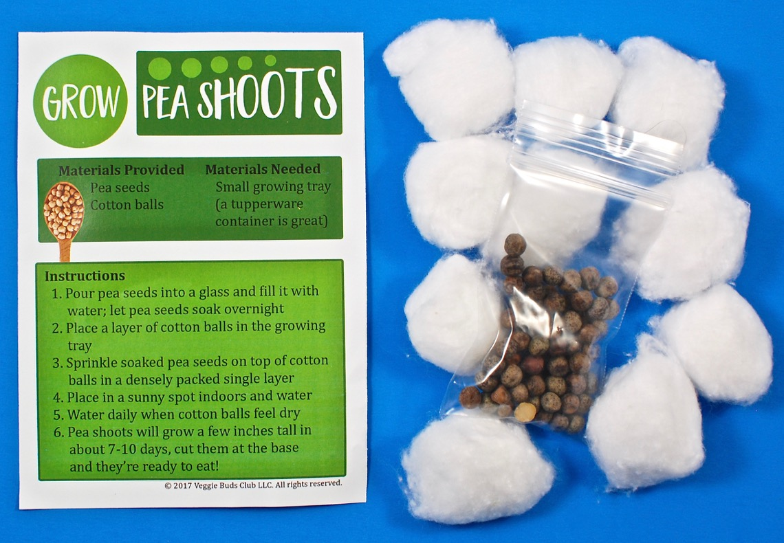 pea shoots activity