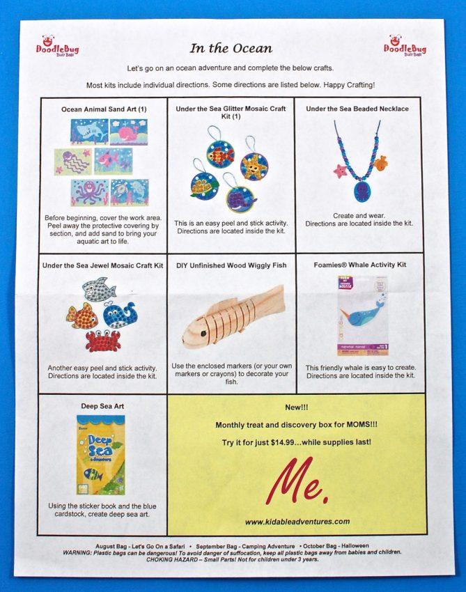 DoodleBug Busy Bag contents