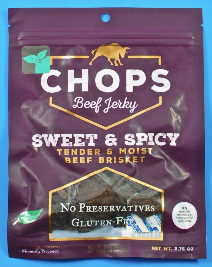 Chops beef jerky