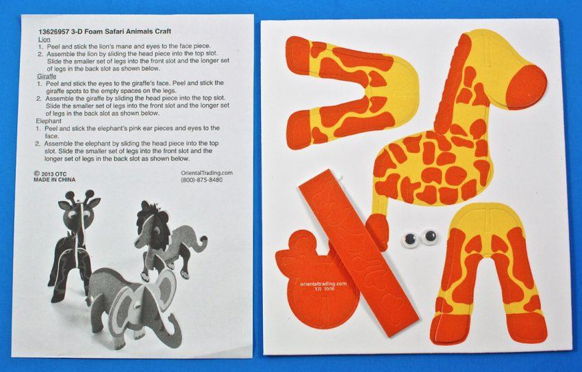 giraffe foam craft