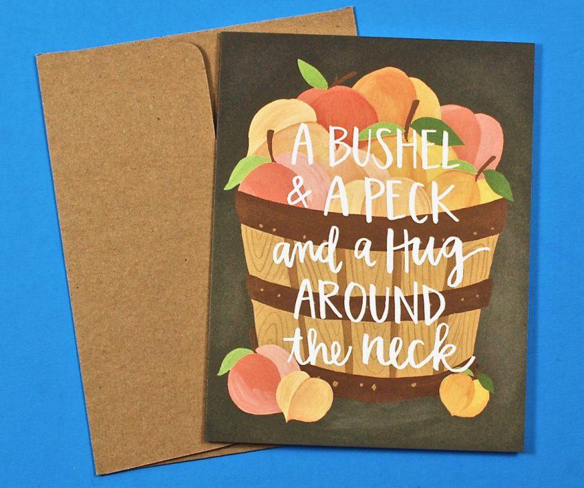 A Bushel & A Peck card