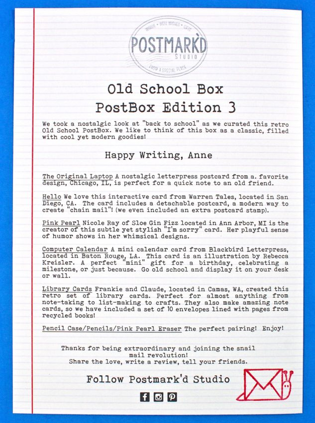 PostBox old school review