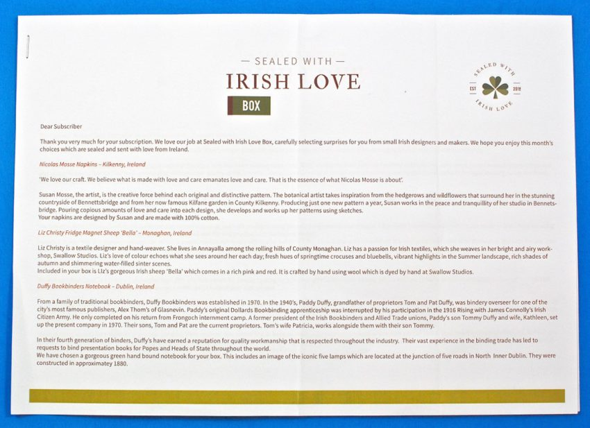 Irish subscription box review