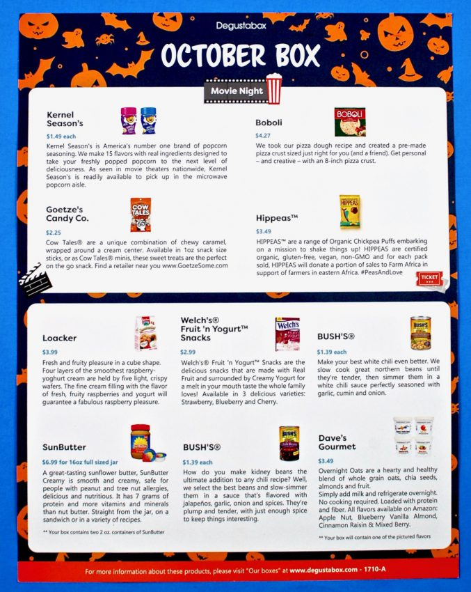 October 2017 Degustabox review