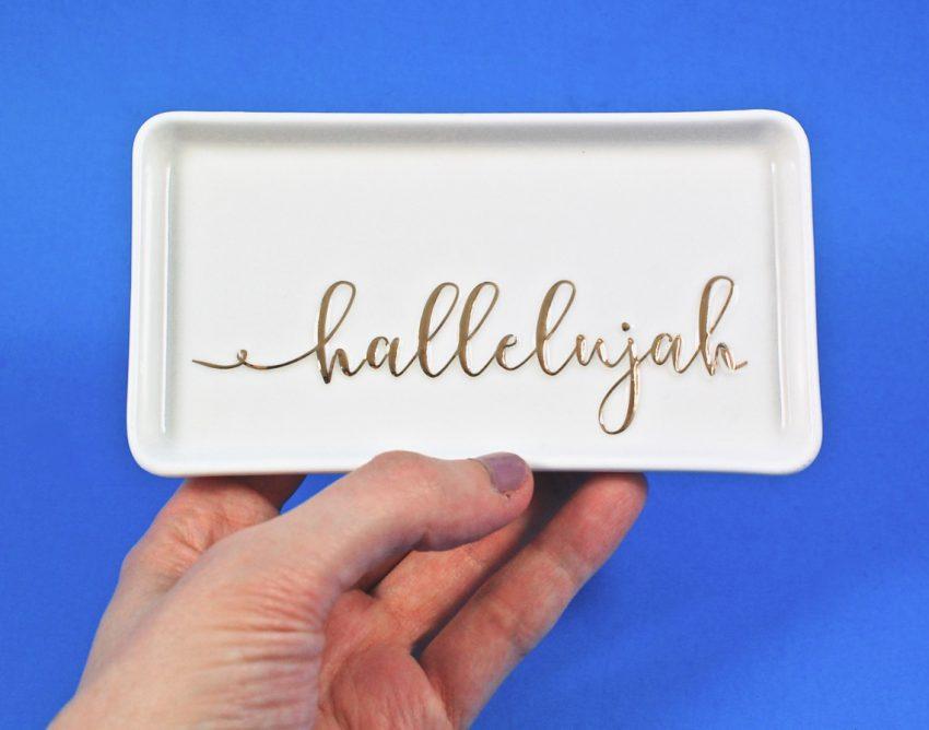 hallelujah trinket tray