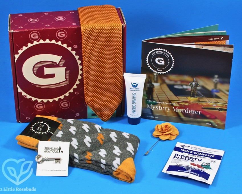 October 2018 Gentleman's Box review