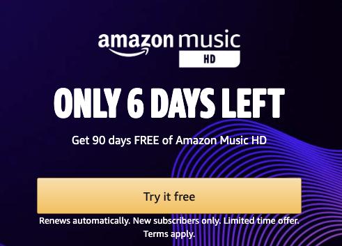 amazon music hd free