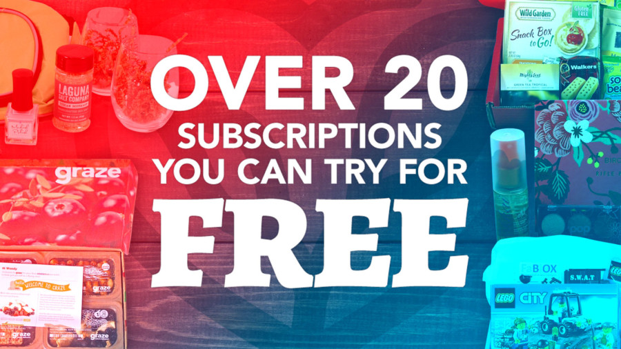 Over 20 subscription boxes you can try for free